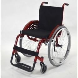 Cadeira De Rodas M.Leve Vermelho Metalico Jaguaribe