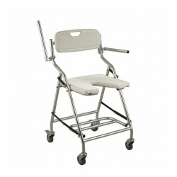 Cadeira De Banho Com Rodas Plus Dobrável Alk405l-3 Aolike