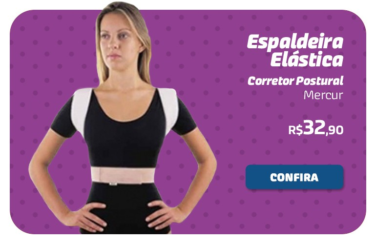 Espaldeira elástica - Corretor postural Mercur