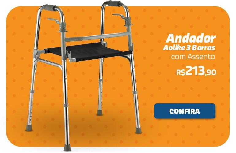 Andador Aolike 3 barras com assento