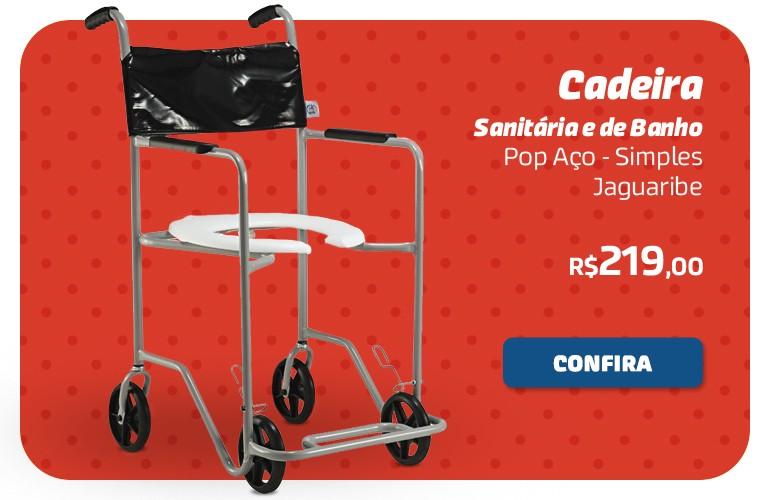 Cadeira Sanitária e de banho Pop Aço - Simples Jaguaribe